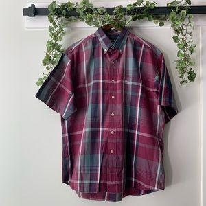 CHRISTIAN DIOR Plaid Button Down Shirt Large